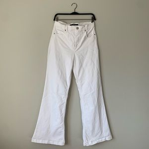 White Express High Waist Wide Leg Bellbottom Jeans